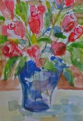 Art: Roses-sold by Artist Delilah Smith