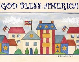 Art: AMERICANA VILLAGE by Artist Susan Brack