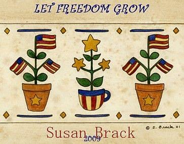 Art: STARS N STRIPES FREEDOM by Artist Susan Brack