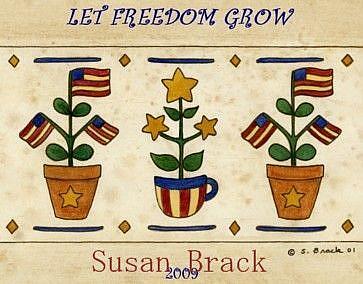 Art: STARS N STRIPES FREEDOM by Artist Susan Brack