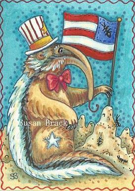 Art: ANT HILL NATION USA  Anteater by Artist Susan Brack