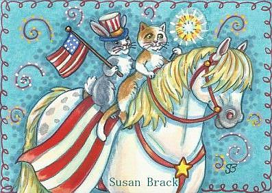 Art: EVERYONE LOVES A PARADE by Artist Susan Brack