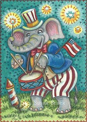 Art: HURRAH FOR INDEPENDENCE DAY by Artist Susan Brack