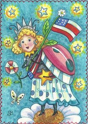 Art: LADY LIBERTY LADYBUG STYLE by Artist Susan Brack