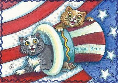 Art: LIBERTY KITTENS by Artist Susan Brack
