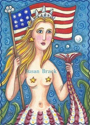 Art: MERMAID AMERICANA by Artist Susan Brack