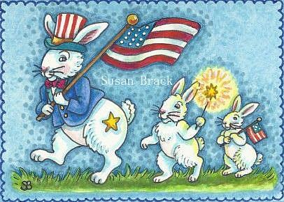 Art: ON THE FOURTH OF JULY by Artist Susan Brack