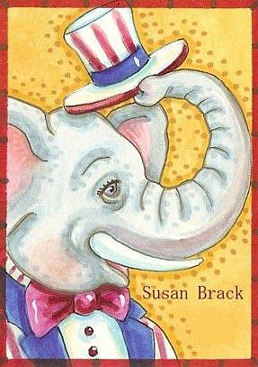 Art: SALUTE TO UNCLE SAM by Artist Susan Brack