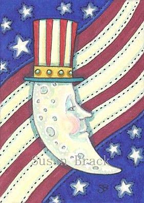 Art: MOON AND STARS UNCLE SAM by Artist Susan Brack