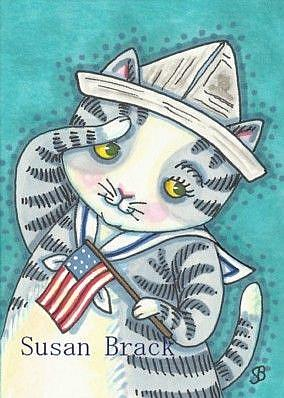 Art: KITTEN SALUTE by Artist Susan Brack