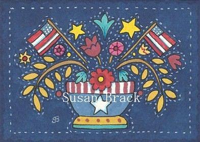Art: AMERICANA APPLIQUE BOWL by Artist Susan Brack