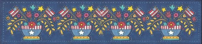 Art: AMERICANA APPLIQUE BOWL - BORDER #4 Repeat by Artist Susan Brack