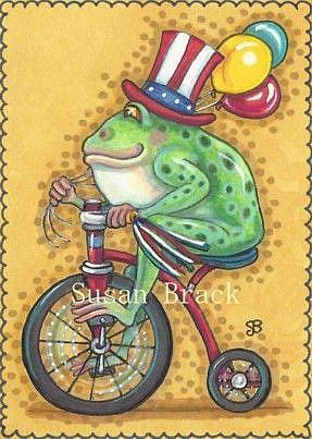 Art: HOPPY 4TH OF JULY by Artist Susan Brack