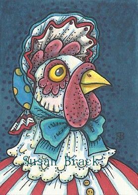 Art: BORN IN THE USA HEN by Artist Susan Brack