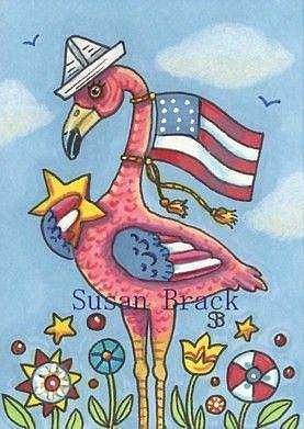 Art: FLAMINGO FLAGPOLE by Artist Susan Brack
