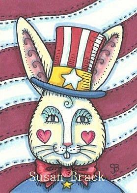 Art: UNCLE WIGGILY GOES AMERICANA by Artist Susan Brack