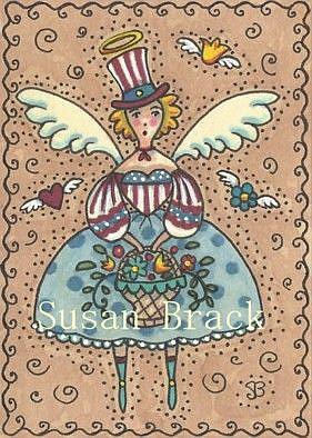Art: AMERICANA ANGEL - FREEDOM by Artist Susan Brack