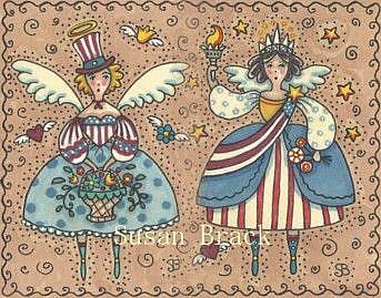 Art: AMERICANA ANGELS Joined #2 by Artist Susan Brack