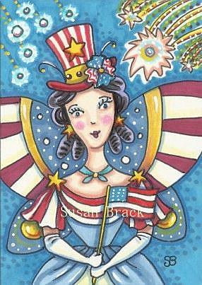 Art: STAR SPANGLED FAIRY by Artist Susan Brack