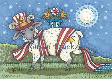 Art: AMERICAN RAM by Artist Susan Brack