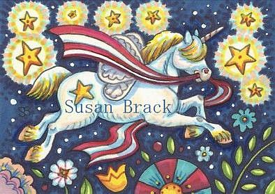 Art: FOURTH OF JULY HORSEFLY by Artist Susan Brack