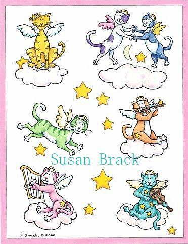 Art: ANGEL CATS by Artist Susan Brack