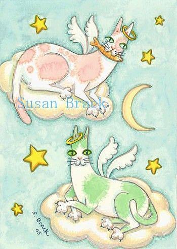 Art: HNF ALL GOOD CATS GO TO HEAVEN by Artist Susan Brack