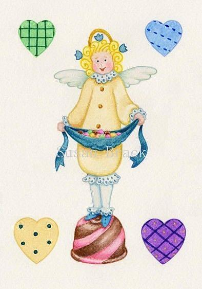 Art: WHIMSICAL ANGEL CANDY Cropped by Artist Susan Brack