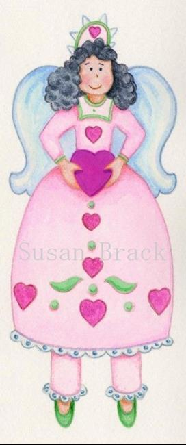 Art: WHIMSICAL PINK ANGEL CANDY Cropped by Artist Susan Brack