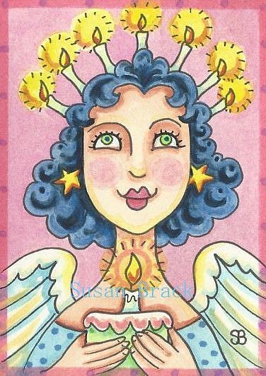 Art: BIRTHDAY ANGEL by Artist Susan Brack
