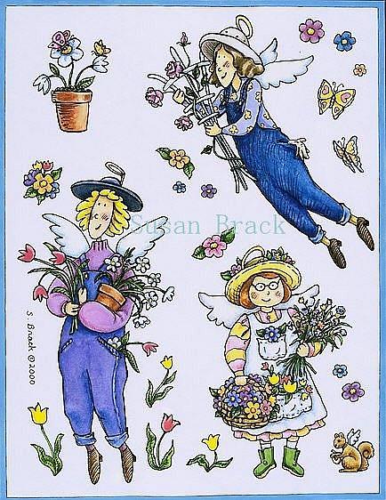 Art: COUNTRY ANGELS by Artist Susan Brack
