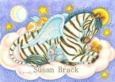 Art: ALL GOOD ANIMALS GO TO HEAVEN by Artist Susan Brack