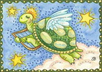 Art: ALL GOOD TURTLES GO TO HEAVEN by Artist Susan Brack