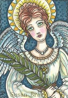 Art: EYES OF AN ANGEL by Artist Susan Brack