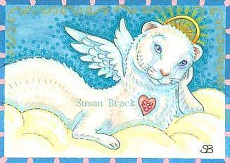 Art: ALL GOOD FERRETS GO TO HEAVEN by Artist Susan Brack