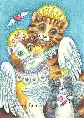 Art: PURRS IN HEAVEN by Artist Susan Brack