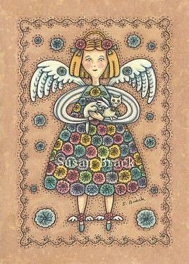 Art: YO YO QUILT ANGEL by Artist Susan Brack