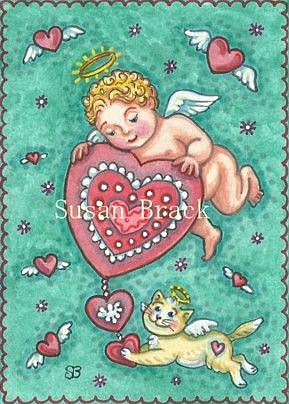 Art: CUPID'S HEART by Artist Susan Brack