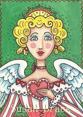 Art: VALENTINE ANGEL by Artist Susan Brack