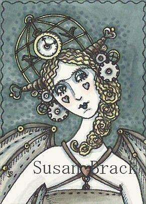 Art: ANGEL OF STEAMPUNK by Artist Susan Brack