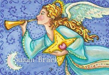 Art: HARK THE HERALD ANGEL by Artist Susan Brack