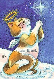 Art: KITTEN'S PRAYER by Artist Susan Brack