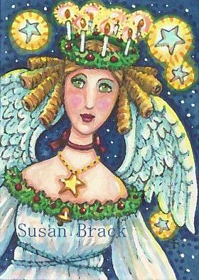 Art: LIGHT OF A CHRISTMAS ANGEL by Artist Susan Brack