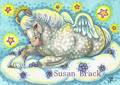 Art: ALL GOOD DRAFT PONIES GO TO HEAVEN by Artist Susan Brack