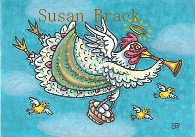 Art: ALL GOOD EGGS GO TO HEAVEN by Artist Susan Brack