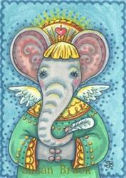 Art: ELLA'S GUARDIAN ANGEL by Artist Susan Brack