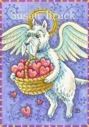 Art: BASKET OF HEARTS by Artist Susan Brack