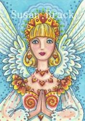 Art: ANGEL OF FLAMING HEARTS by Artist Susan Brack