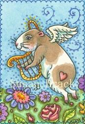Art: ALL GOOD GUINEA PIGS GO TO HEAVEN by Artist Susan Brack