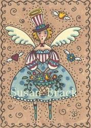 Art: AMERICANA ANGEL FREEDOM by Artist Susan Brack